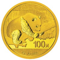 2016 8 Gram Chinese Gold Panda Coin